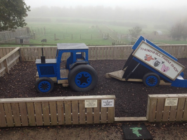 Tractor and trailer climbing frame