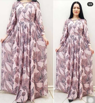 Latest Chiffon Gown Styles for Ladies
