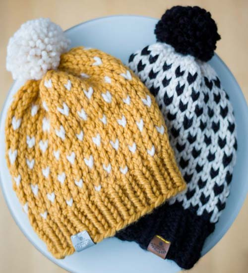 Knitted Fair Isle Hats - Knitting Pattern