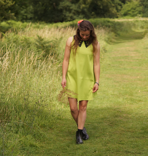 how to wear a lime green dress