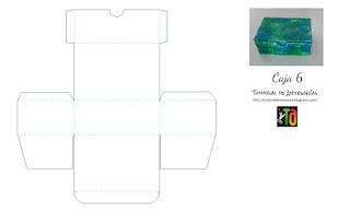 Molde imprimible gratis caja rectangular de Tutorial de Artesania