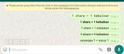 5 Cara Membuat Variasi Tulisan Unik di Whatsapp
