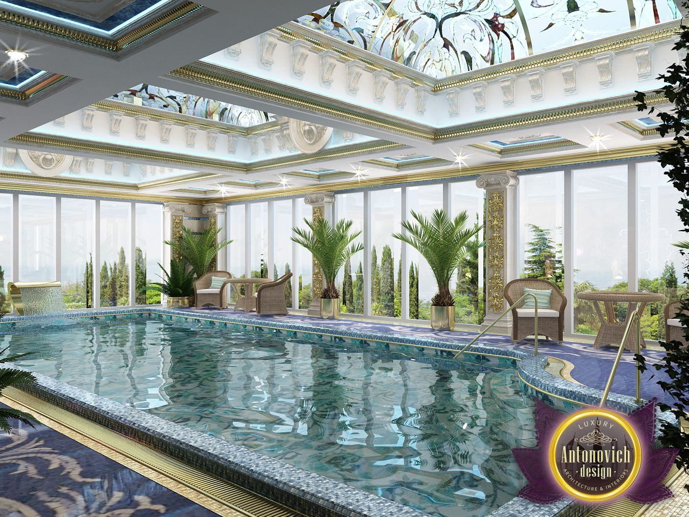 Luxury antonovich design uae 2016 for Luxury pool designs