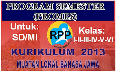 Program Semester (Promes) Bahasa Jawa K-13 SD/MI