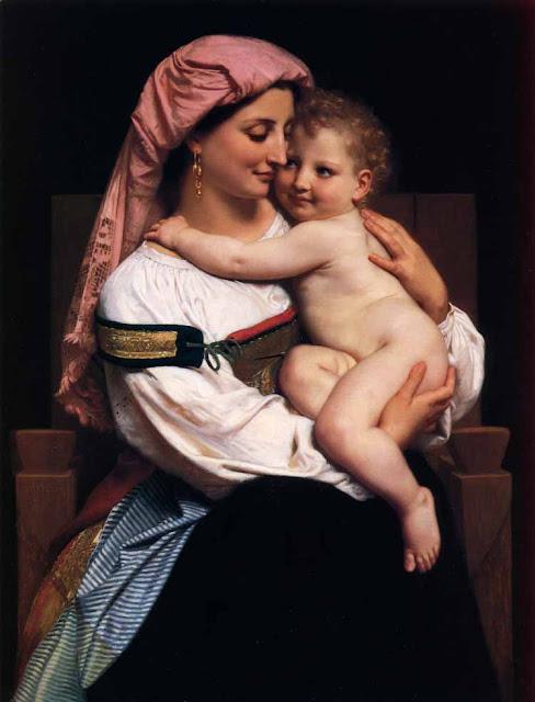 Адольф Вильям Бугро - Женщина из Кервара с ребенком (1861)