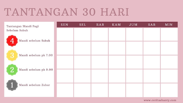 Tantangan 30 hari mandi sebelum subuh Vitalis