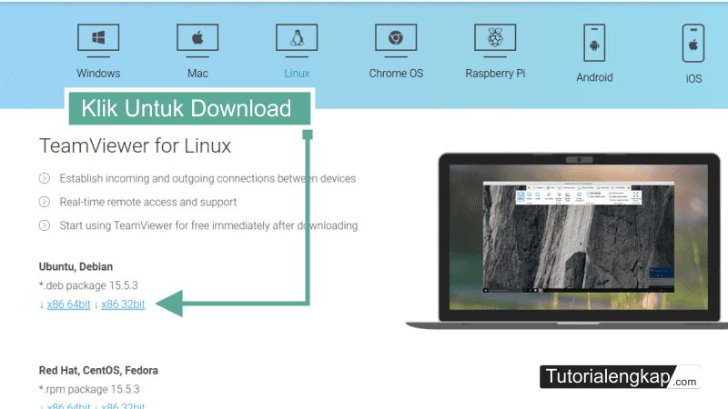 tutorialengkap 2 cara install Teamviewer pada linux ubuntu versi terbaru