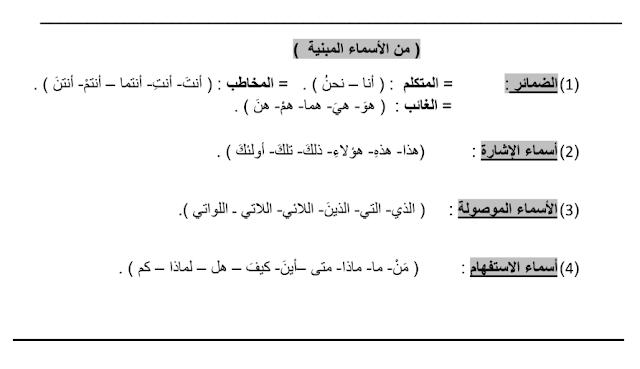 ورق عمل علامات الإعراب الأصلية والفرعية لغة عربية صف سابع فصل ثالث