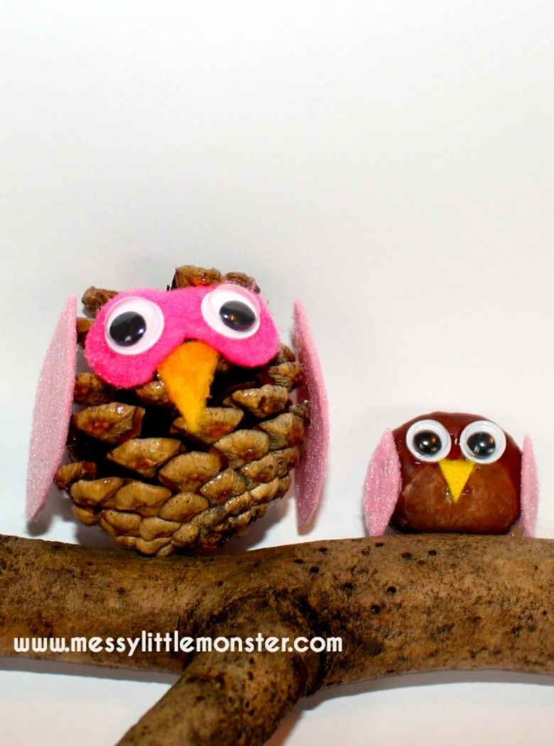 nature owls autumn craft for kids