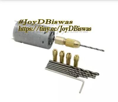 Voltage: 12V Rotary Speed: 12000 RPM / min 6 x Iron Chucks(0.5-3.2mm Bits-1 x 0.8mm Drill 1 x 1mm Drill 1 x 1.5mm Drill 1 x 2 mm Drill 1 x 3mm Drill