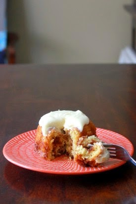 Featured Recipe | Mini Cinnamon Roll Cakes from Kitchen Trial & Error
