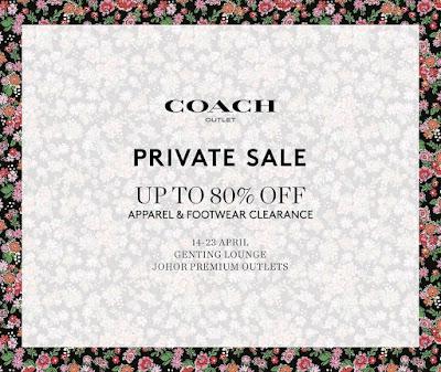 Coach Private Sale Johor Premium Outlets JPO