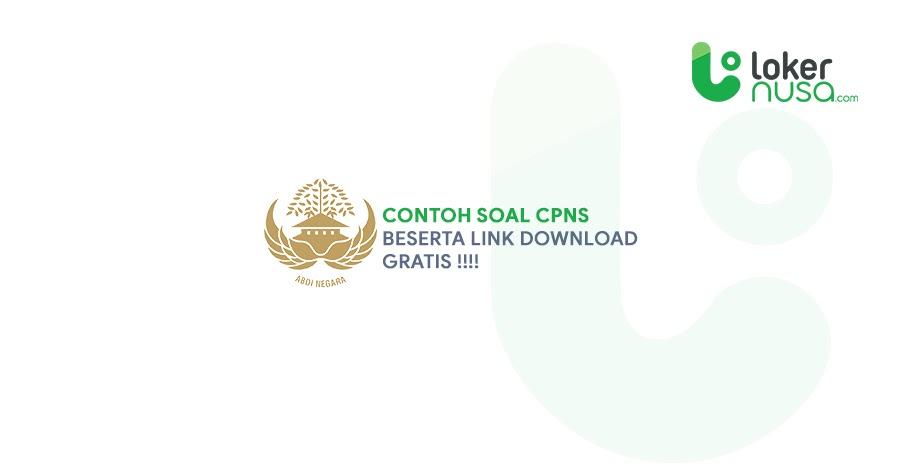 Soal CPNS dan Link Download Soal CPNS