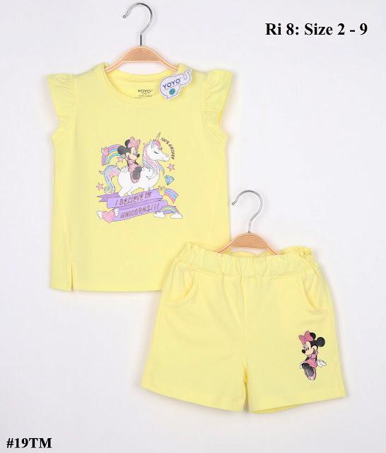 Bộ Short bé gái in Mickey