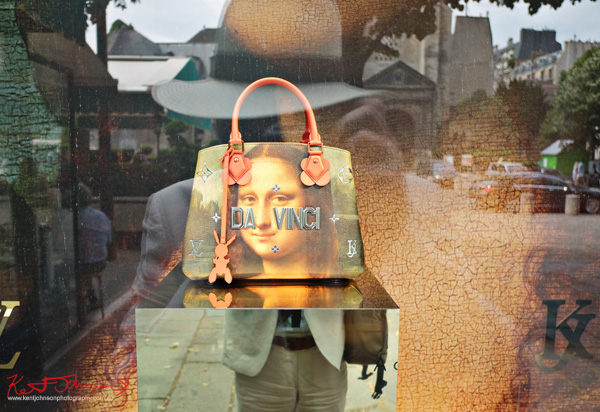 Jeff Koons art collab with LV photographed in the Saint Germain des Prés LV store window. If you're going to the Cité.. Shots from Paris on June 26 2017 for Street Fashion Sydney.