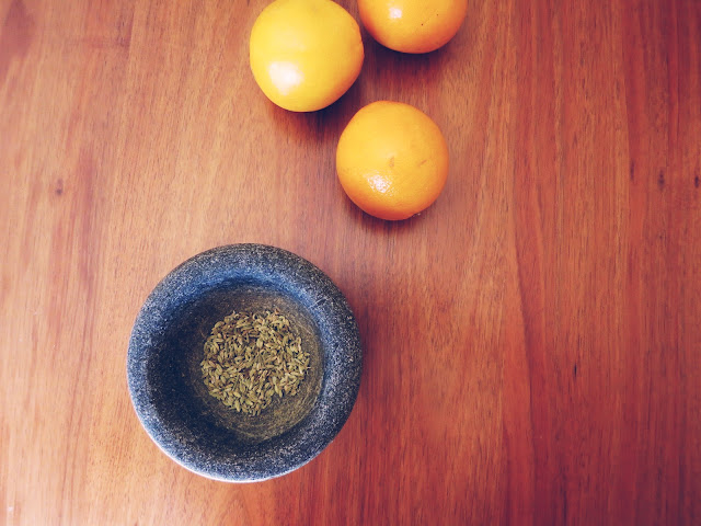 Oranges and fennel seeds
