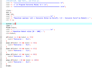 Contoh program sederhana c++