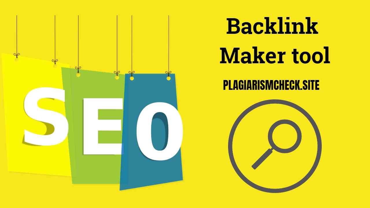 Backlink maker-Also knows as a free backlink generator - Free