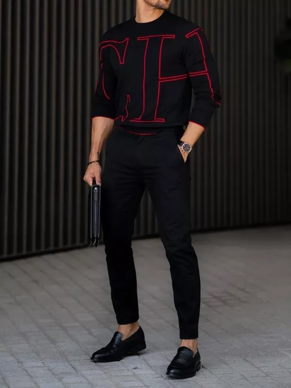 Loafer shoes with sweatshirts