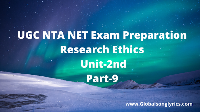 UGC NTA NET Exam Preparation |research Ethics| Unit-2nd| Part-9|