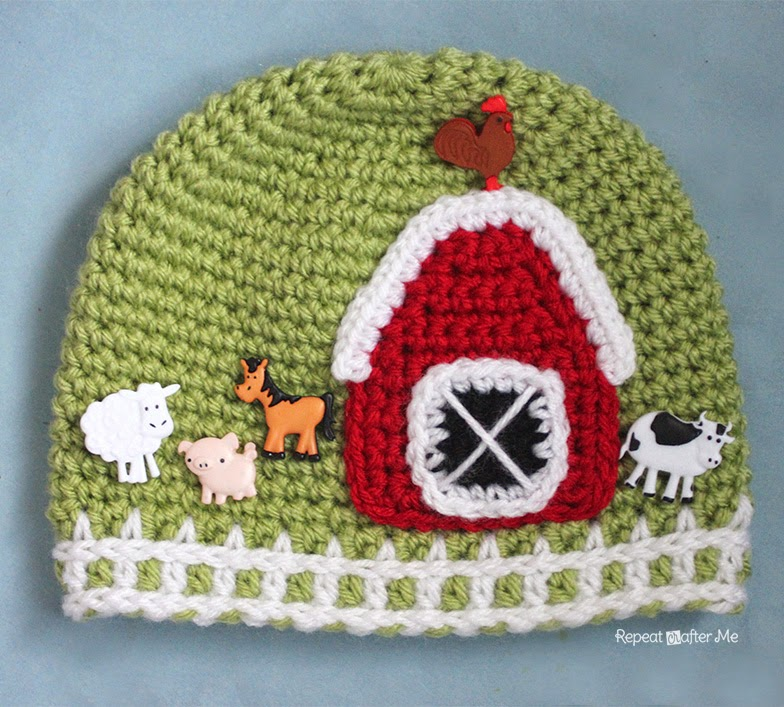Crochet Farm Hat With Picket Fence Border Repeat Crafter