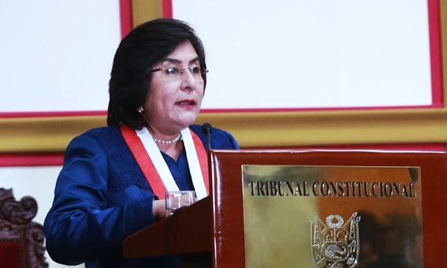 Marianella Ledesma juramentó como presidenta del Tribunal Constitucional