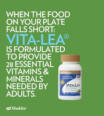 Vitalea Shaklee, multivitamin shaklee, tambah darah