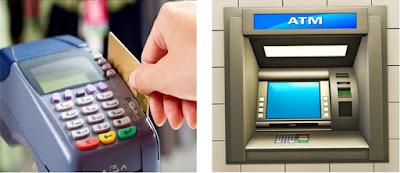 kartu kredit gesek, kartu atm telan
