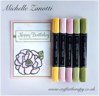 stampin' up! UK Beautiful Day flower happy birthday spring/summer catalogue Stampin' Blends