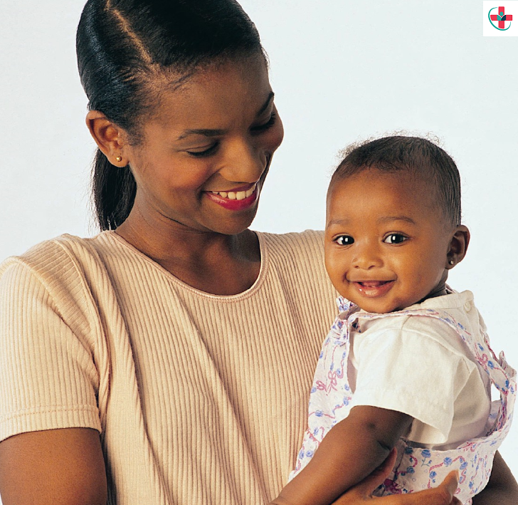 black mom and baby boy
