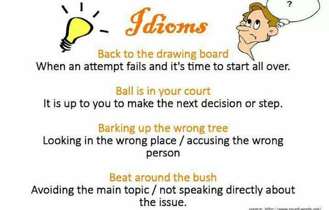 Proverbs - मुहावरे या कहावत in hindi | idioms