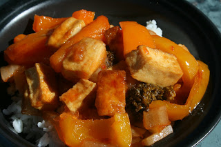 Sweet and Sour Tofu. This is a slow cooker recipe, but there's a tip inside on how to keep it firm and not falling apart! I actually use this tip now even if I DON'T use the crockpot!