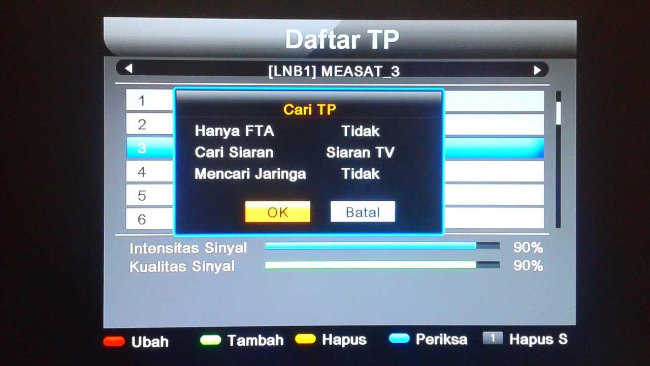 Cara Mencari Siaran Dari Transponder Matrix Sinema HD