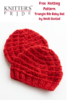 Free Knitting Pattern: Triangle Rib Baby Hat by Heidi Gustad