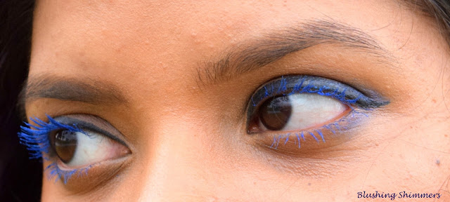 Colorbar Starry Eye Mascara : 01 Starry Blue on eyes