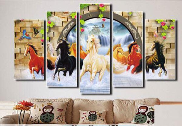 In tranh Canvas phòng khách đẹp Nha Trang