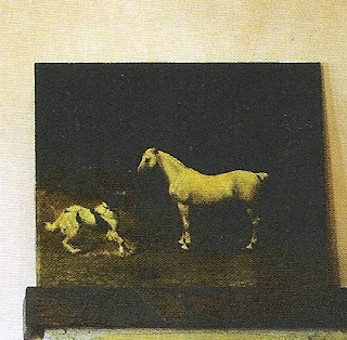 Horse and Dog painting via The Private House by Rose Tarlow, edited by lb for linenandlavender.net