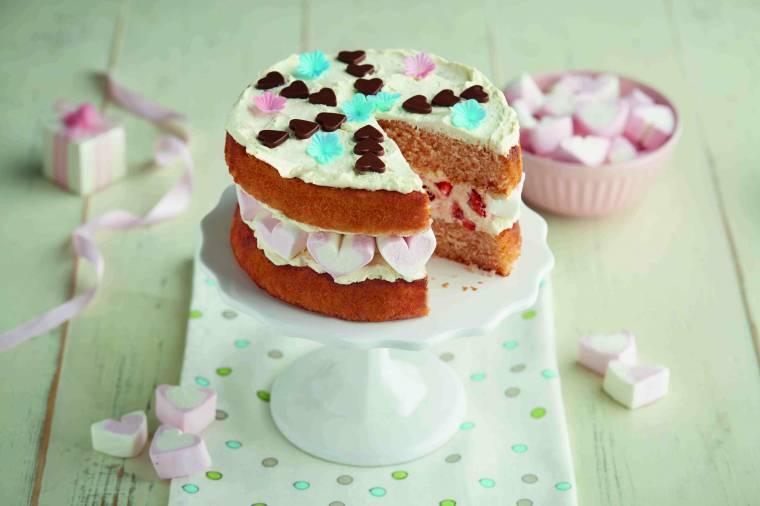 Lovely Strawberry Sandwich Cake: Mother's Day Treat