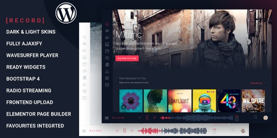 Download Free Rekord vl .4.2 - Ajaxify Music Podcasts Multipurpose WordPress Theme