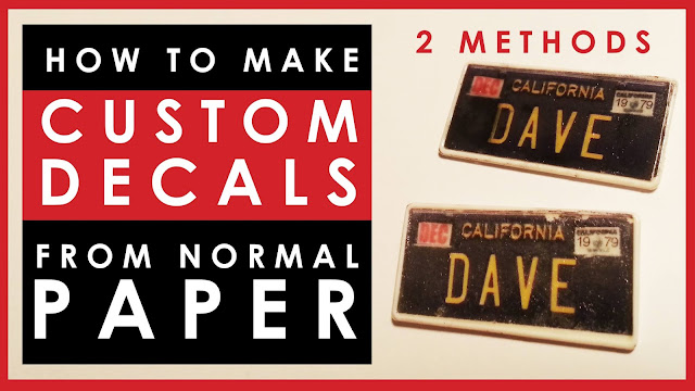 How to make custom decals for scale models using normal paper (not decal paper)