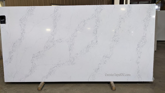 White Quartz Slab vali NYC