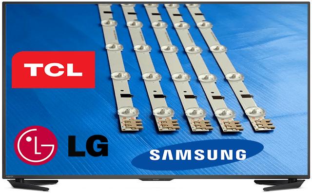Réparation de la barre de Rétro éclairage led de tv LG Samsung à domicile