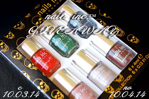 nails inc. GiveAway №7 — 10.03.14 — 10.04.14
