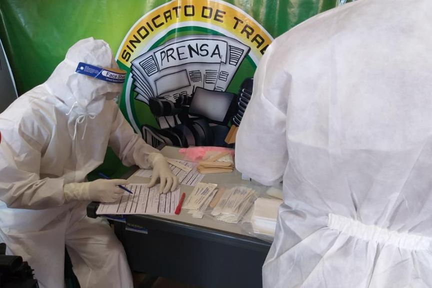 Pruebas Covid-19 realizadas en la federación de la prensa de Trinidad / RRSS