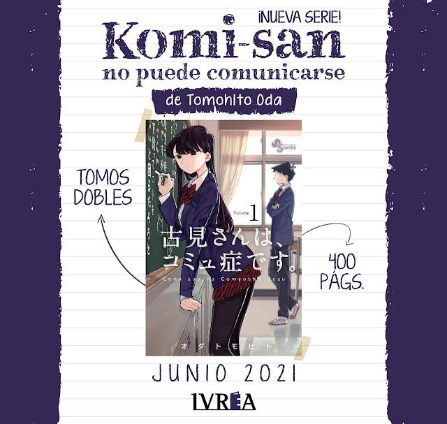 Ivrea licencia Komi-san no puede comunicarse, de Tomohito Oda.