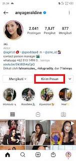 cara buat dm palsu di instagram dari artis