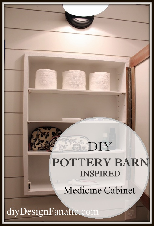 Pottery Barn inspired, building projects,  medicine cabinet, rustic, farmhouse style, farmhouse, cottage, cottage style, diy
