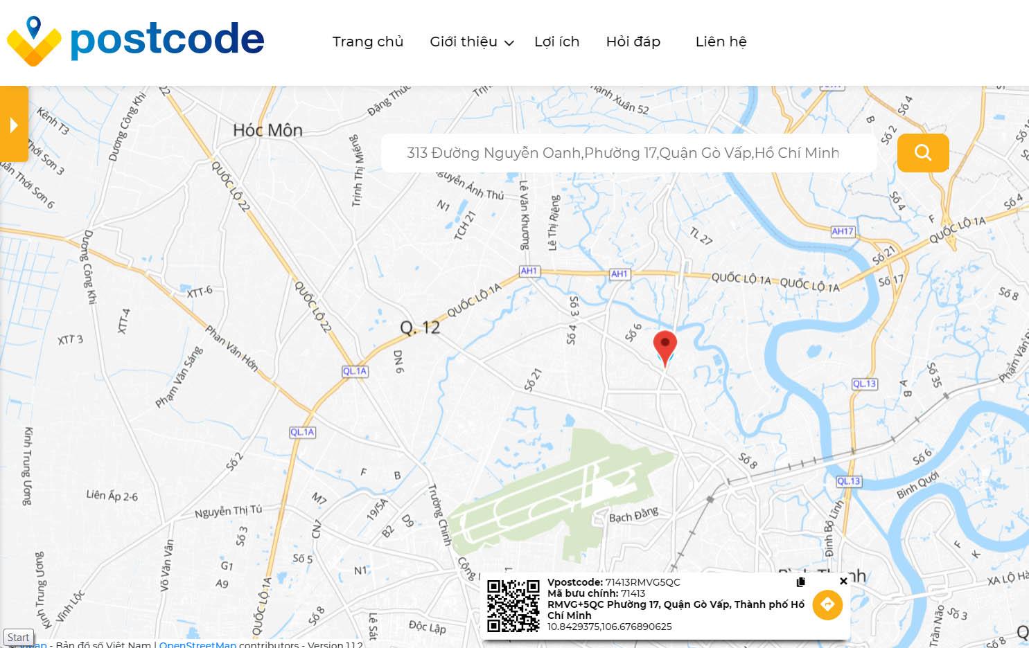 Hướng dẫn cách tra cứu mã bưu chính - tra mã bưu điện bằng vpostcode