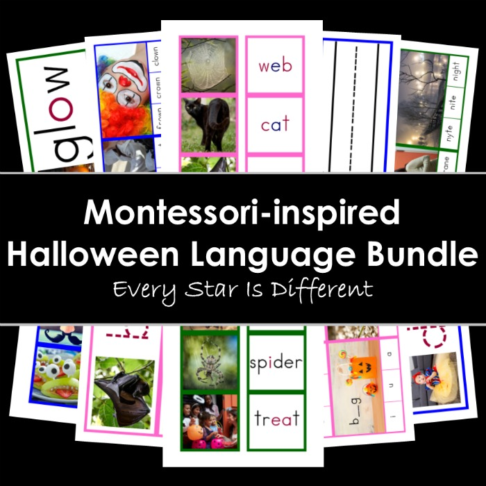 Montessori-inspired Halloween Themed Language Bundle