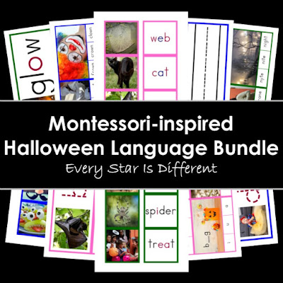 Montessori-inspired Halloween Language Bundle